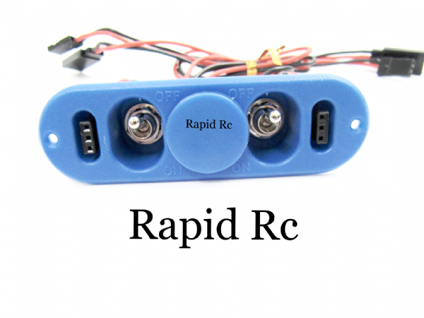 Heavy Duty RX Twin Switch with Charge Port & Fuel Dot Blue